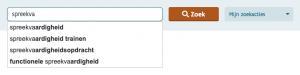 Zoekactie naar lesmateriaal bewaren en meldingen ontvangen: zoeken
