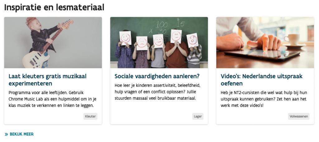 KlasCement vernieuwd - Homepage met nieuws op maat