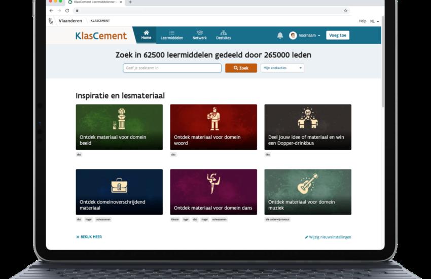 Homepage KlasCement met deeltijds kunstonderwijs