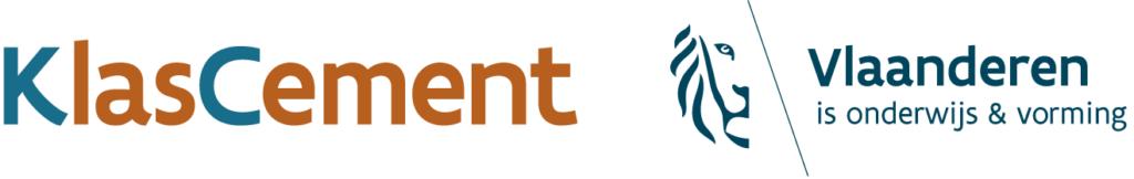 KlasCement logo met Vlaanderen voor schermen
