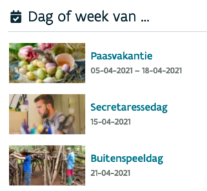 dag of week van